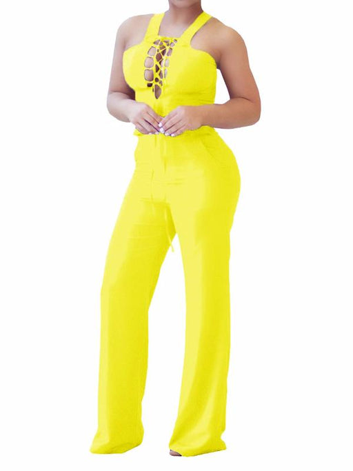 Chellysun Cold Shoulder Sexy hollow out jumpsuit - Chellysun