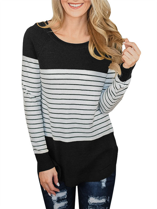 Chellysun Long Sleeve Striped Sweater
