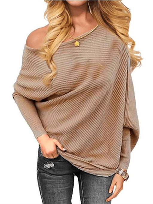 Chellysun Knitted Loose Pullovers Sweater