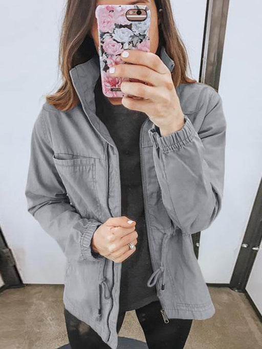 Chellysun Lightweight Zipper Bomber Jacket