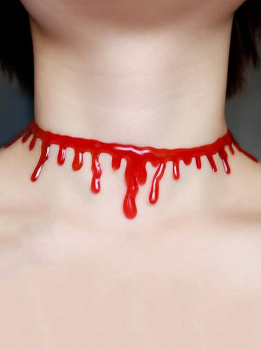 Chellysun Halloween Blood Choker Necklace