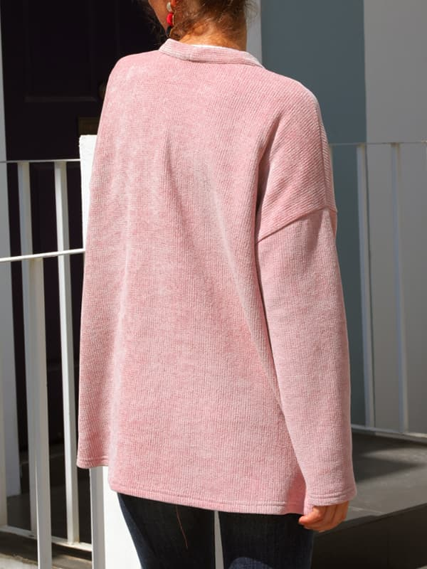 Chellysun Winter Pink Corduroy Jacket