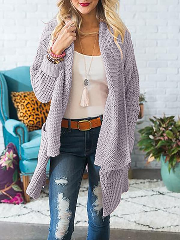Chellysun Comfy Coat Chunky Cardigan Sweater