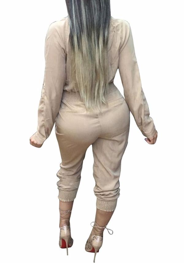 Chellysun Belt Sexy Jumpsuit Pants