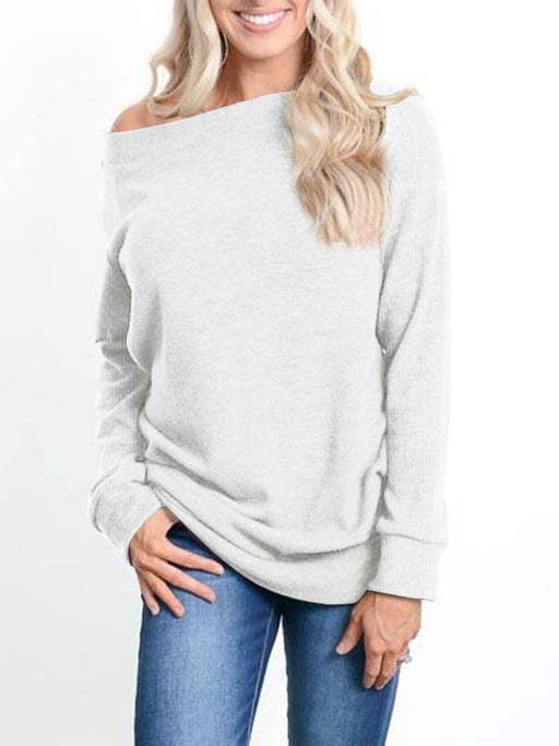 Chellysun Cold Shoulder Long Sleeve Pullover