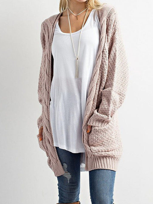 Chellysun Knit Sweater Cardigan Coat