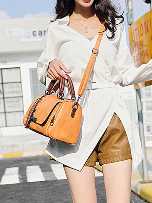 Chellysun Casual Zipper Shoulder Bag