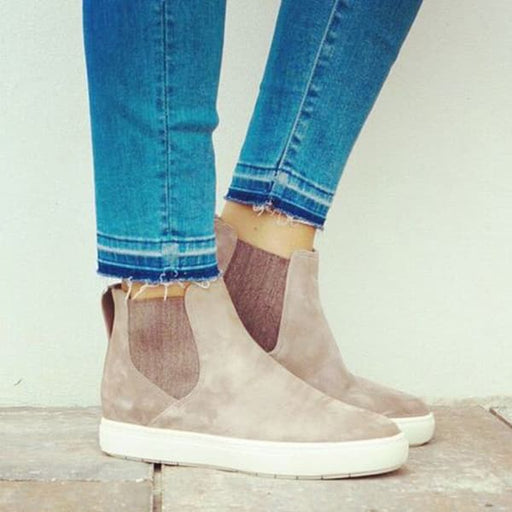 Chellysun Casual High Top Suede Sneakers