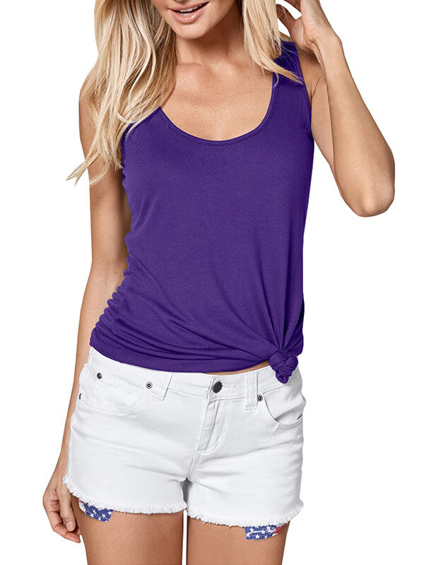 Chellysun Womans Fashion Summer Solid Color Tank Tops