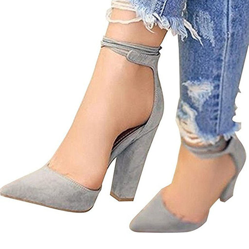 Chellysun Ankle Strappy Pointed Heels