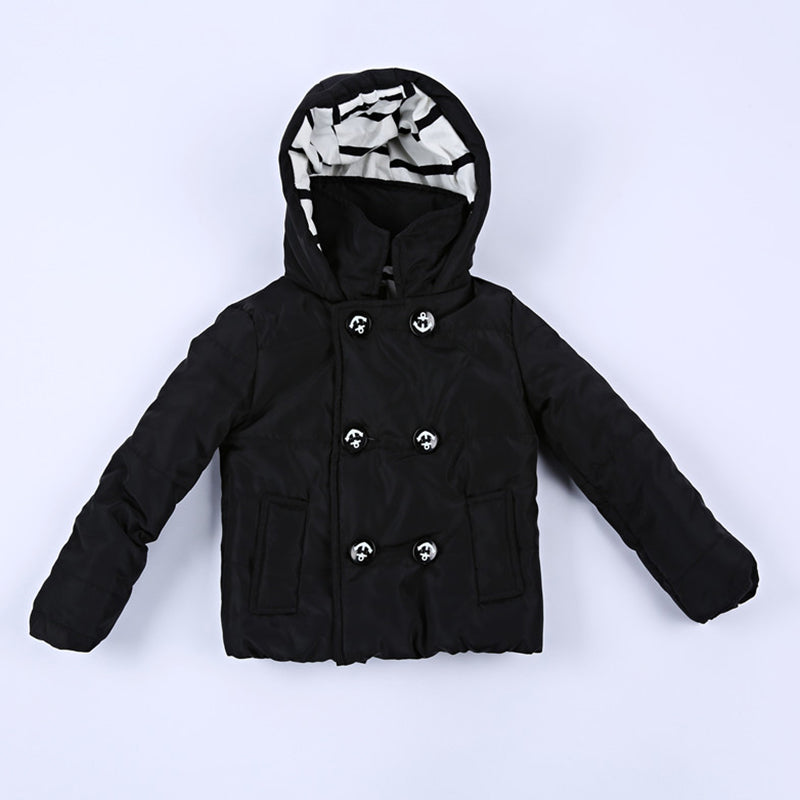 Chellysun Winter Children's Solid Color Cotton Jacket - Chellysun