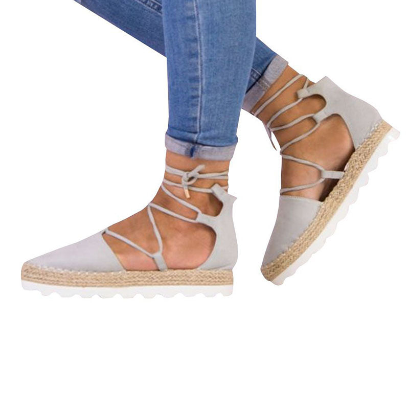 Chellysun Womens Strappy Bandage Sandals Shoes