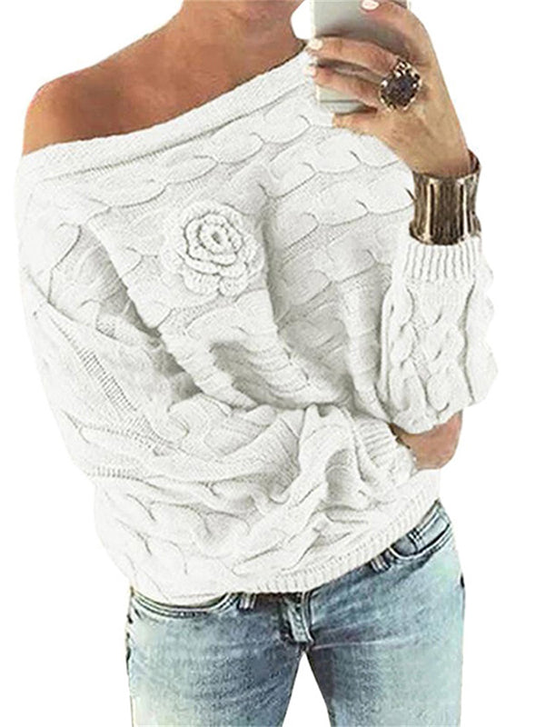 Chellysun Bat Sleeves Random Floral Sweater