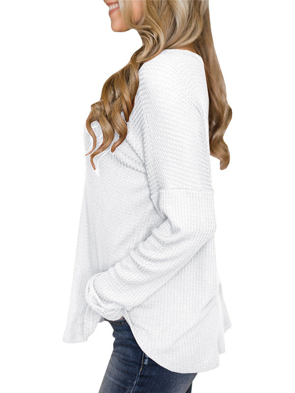 Chellysun Casual Loose Solid Blouse