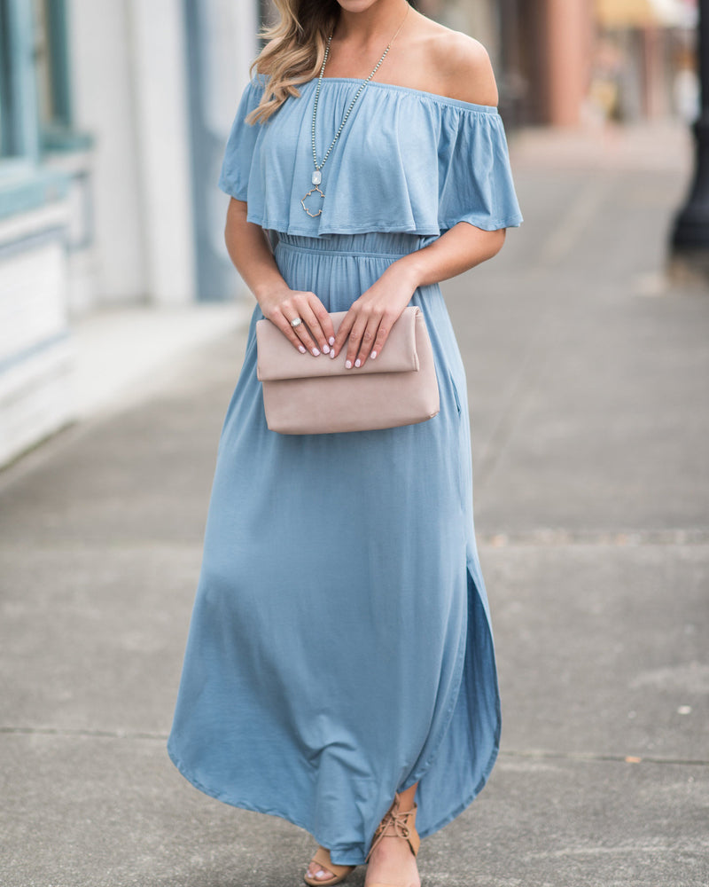 Chellysun Solid Elegant Long Dress
