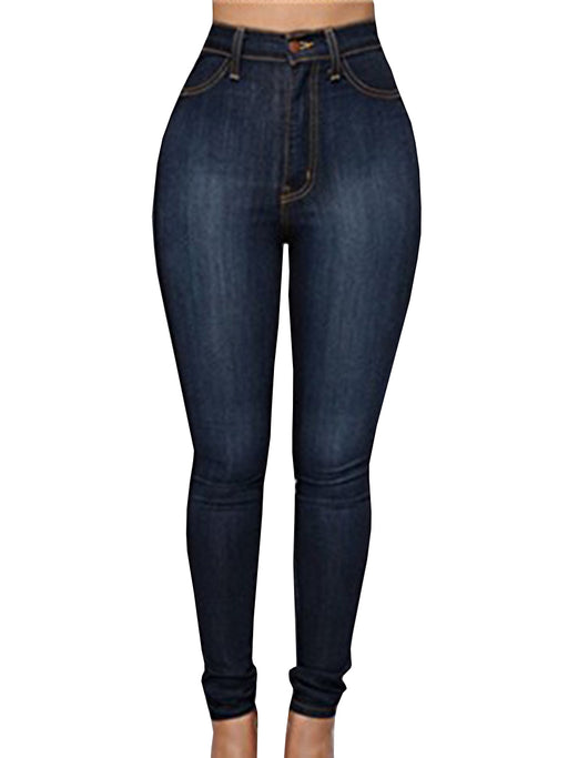 Chellysun Women Colors High Waist Tight Jeans - Chellysun