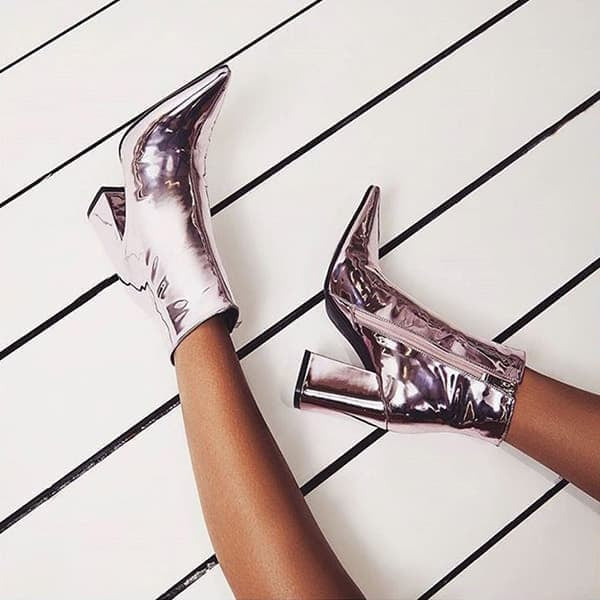 Chellysun Mirror Leather Party Pumps
