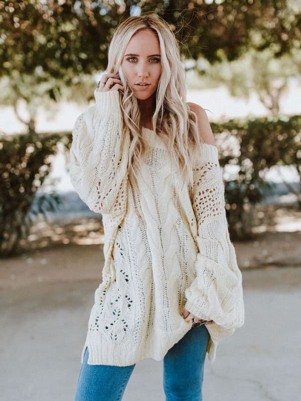 Chellysun Golden Hour Bubble Sleeve Sweater