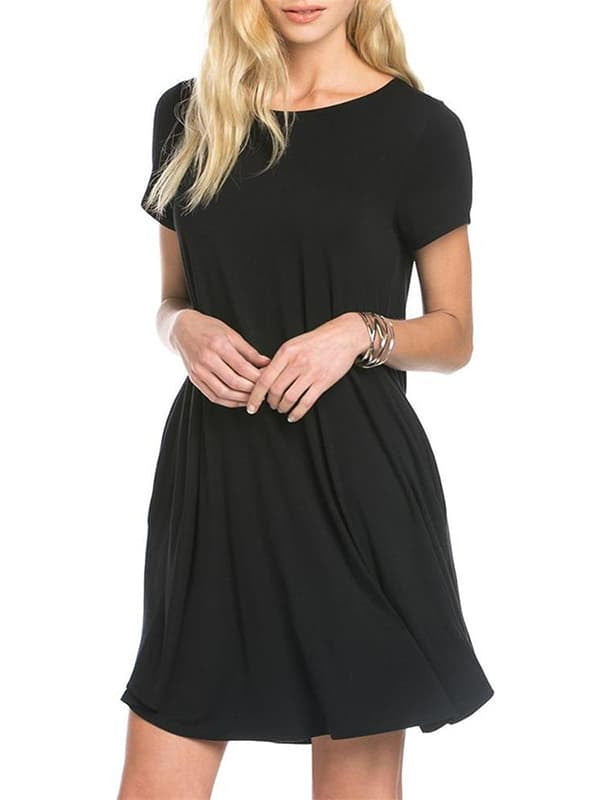 Chellysun Casual Solid Short Dress