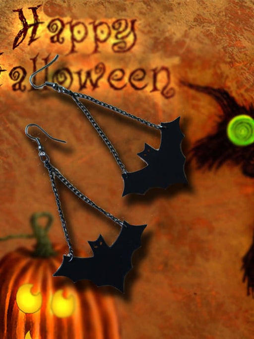 Chellysun Halloween Bat Design Drop Earrings