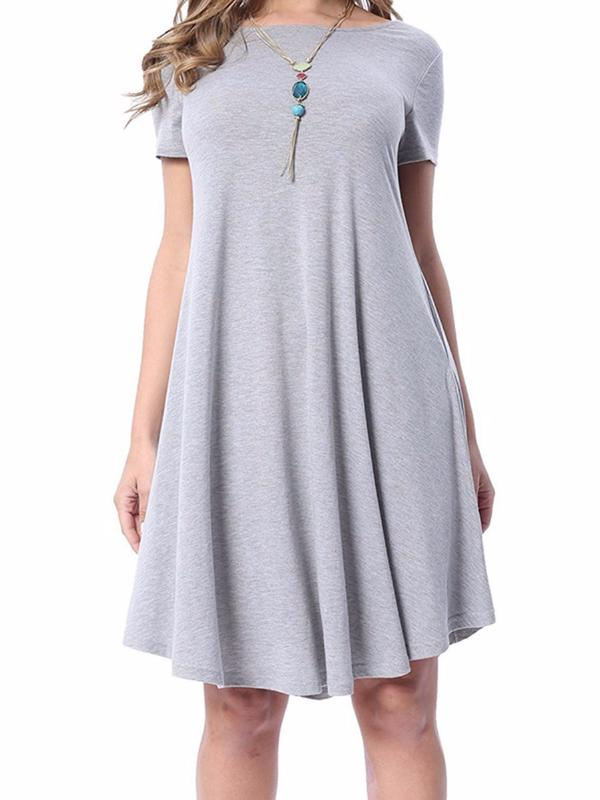 Chellysun Comfortable And Loose Short-sleeved Skirt - Chellysun
