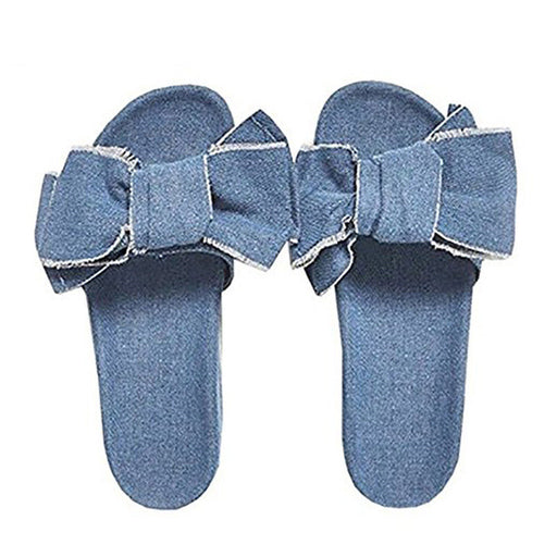 Chellysun Summer Big Bow Slippers