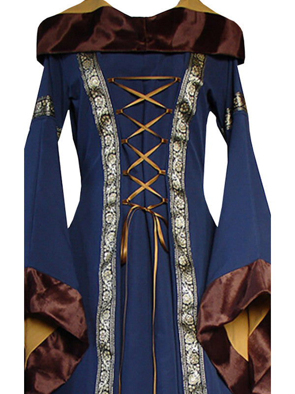 Chellysun Hooded Gothic Cosplay Costume Dress