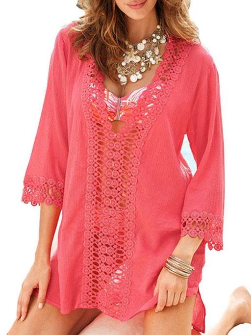 Chellysun Lace Cover Up Beach Dress
