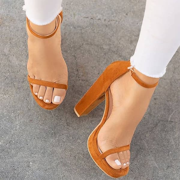 Chellysun Ankle Strappy High Heels Sandals