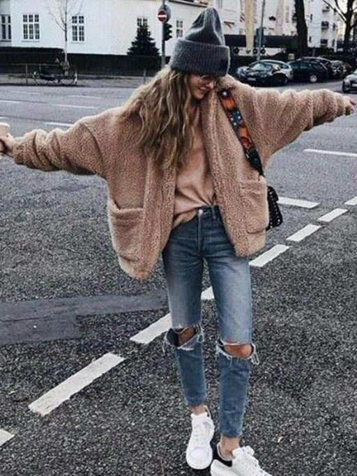 Chellysun Boyfriend Winter Faux Coat