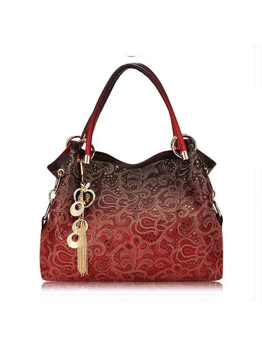 Chellysun Vintage Openwork Shoulder Bag