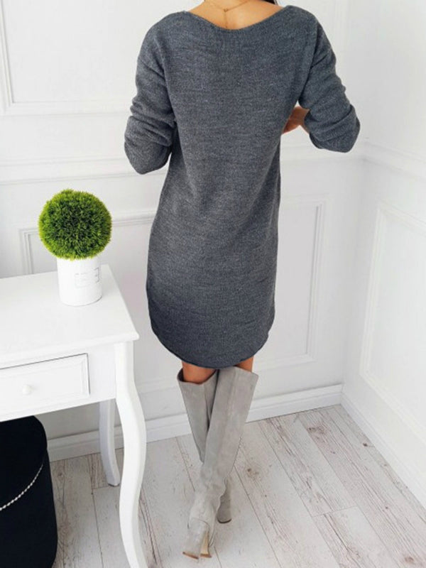 Chellysun Fashion Sweater Dresses