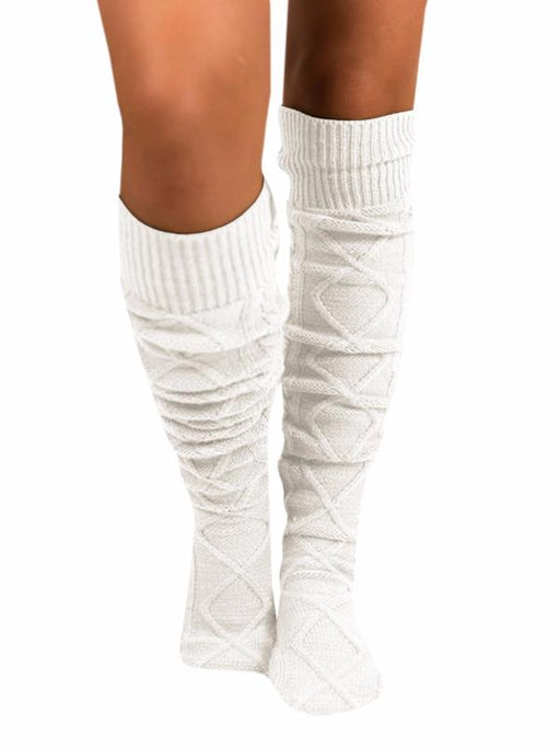 Chellysun Cotton Knit Knee Length Socks