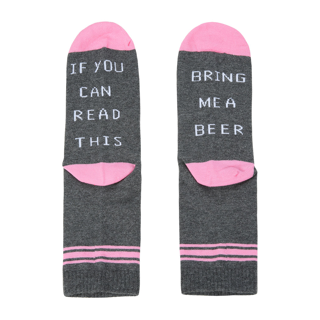 Chellysun New Fashion Funny Cotton Sport Socks-Pink
