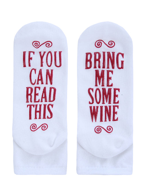 Chellysun Funny Cotton Wine Socks