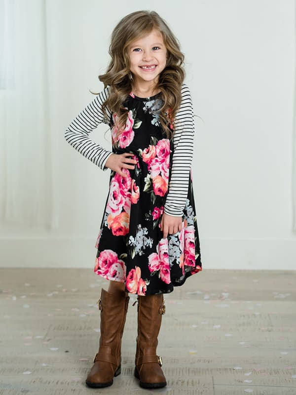 Chellysun Print Kids Party Sundress