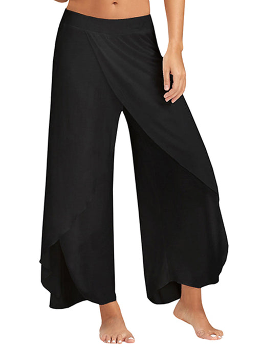 Chellysun Wide-leg Irregular Yoga Pants