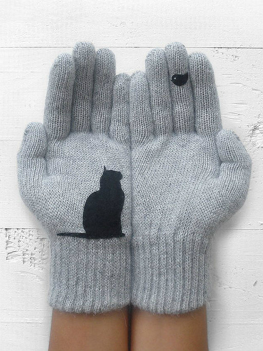 Chellysun Winter Cat Mittens Gloves