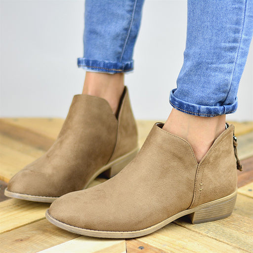 Chellysun Women's Suede Ankle Boots