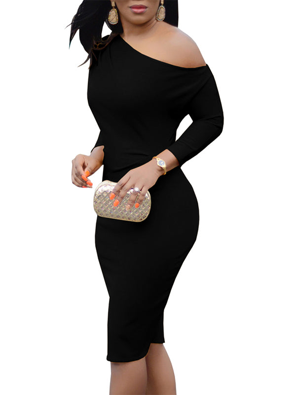 Chellysun Cold Shoulder Bodycon Dress