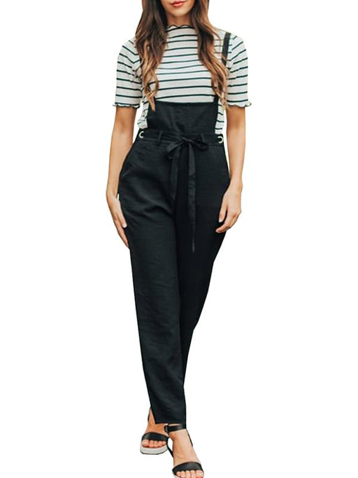 Chellysun Strap Back Cross Pockets Jumpsuits