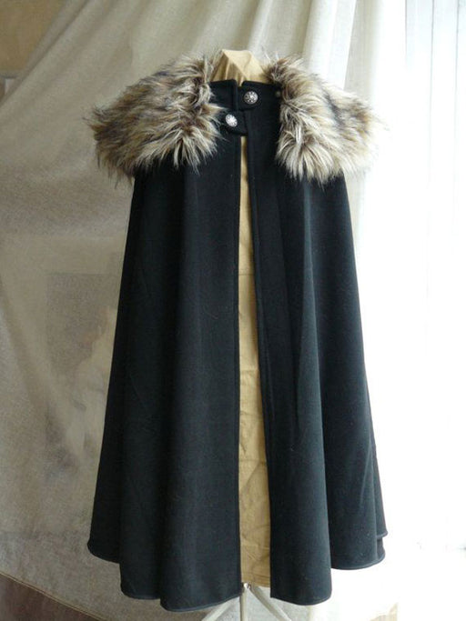 Chellysun Cloak Made Of Wool And Fur