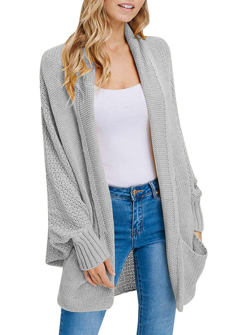 Chellysun Oversize With Pocket Cardigans
