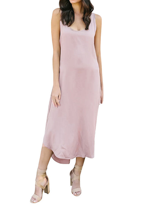 Chellysun Plain Loose Beach Dress
