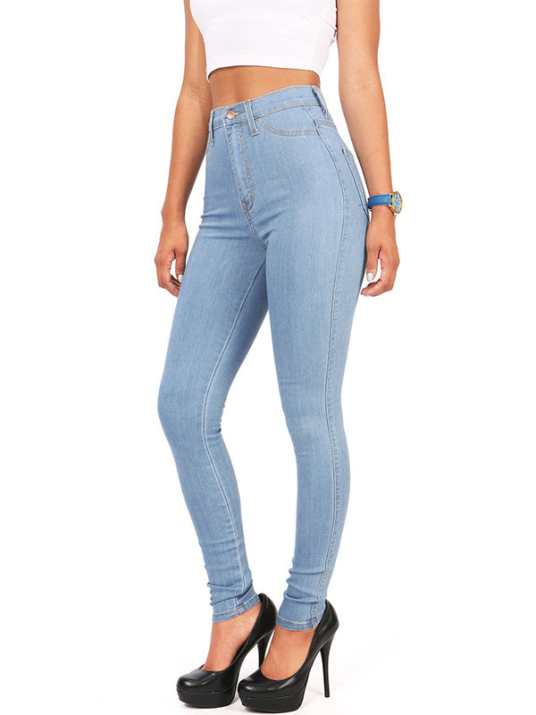 Chellysun High Waist Denim Skinny Jeans