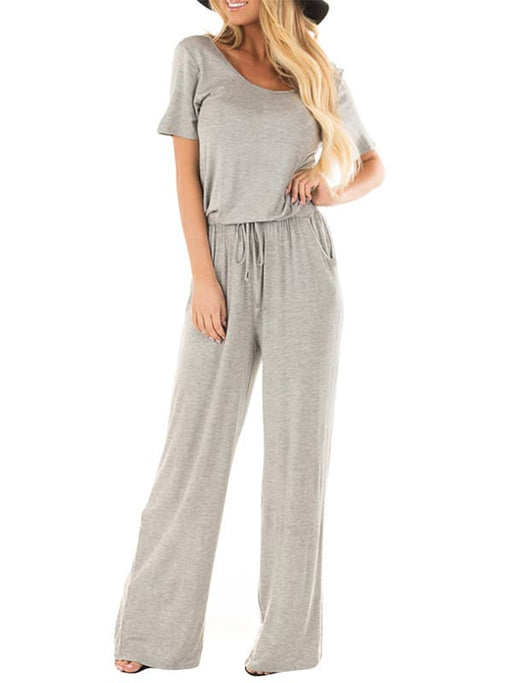 Chellysun Wide Legs Jumpsuits with Pockets