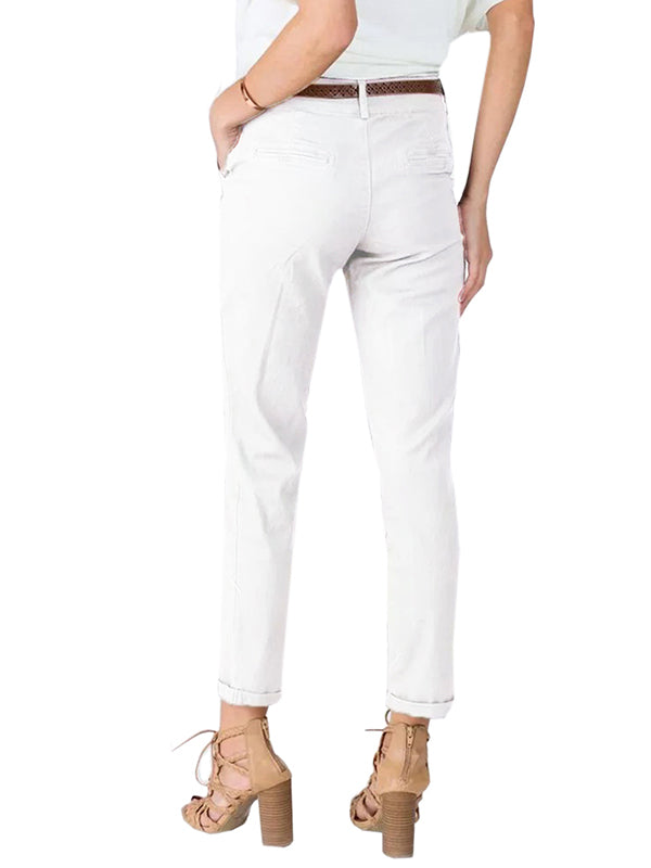 Chellysun Side Pocket Cropped Casual Pants