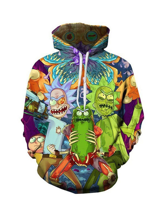 Chellysun Rick And Morty 3D Couple Hoodie