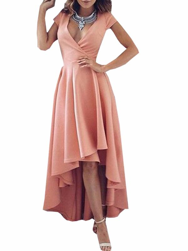 Chellysun Prom Party V Neck Evening Dress