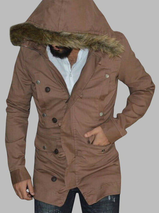 Chellysun Fashion Men's Coat Hooded Jacket